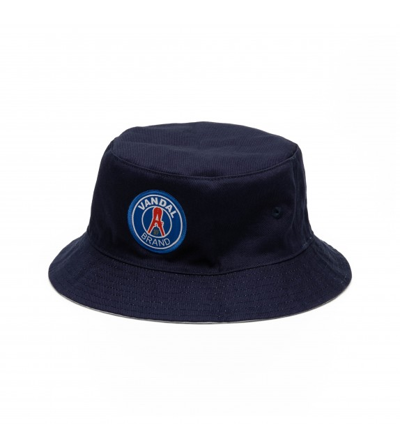 7829ae84aa2 From Paris With Love - BUCKET HAT - Navy White - Vandal Brand